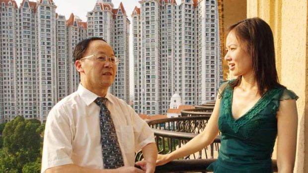 Chief defence lawyer Chen Youxi with Mr Ng's wife, Niki.