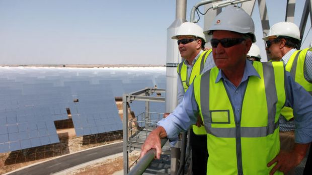 Ross Garnaut, Tony Windsor and Santiago Anas on the hunt for renewable energy solutions.