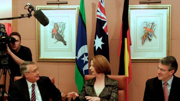 Unsure whether to back an inquiry into the media ... Julia Gillard.