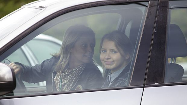 Madeleine Pulver on her way to school one week after her ordeal. Police have now made an arrest in the US.