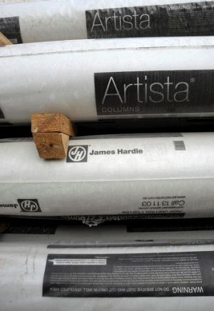 James Hardie faces difficult markets here and in the US.