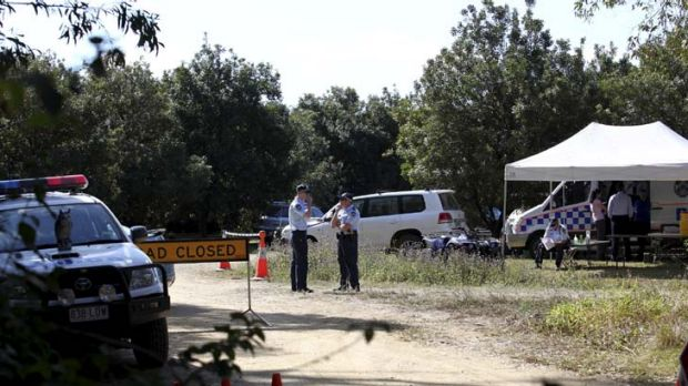 Still looking … police and SES crews continued their search for Daniel Morcombe's remains yesterday on the ...