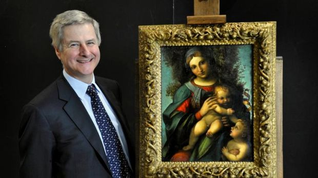Businessman and National Gallery of Victoria trustee Andrew Sisson put up $5.2million for the Correggio painting on the ...