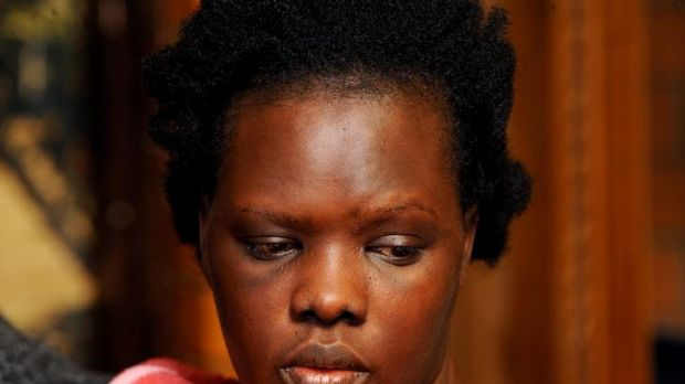 Jackline Anchito, mother of four-year-old dog attack victim Ayen Chol.