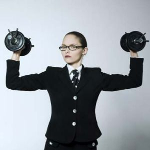 A lift in looks ... weight training is more likely to tone and tighten than add bulk to women.