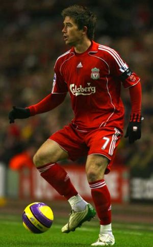 Hary Kewell playing for Liverpool in the English Premier League.