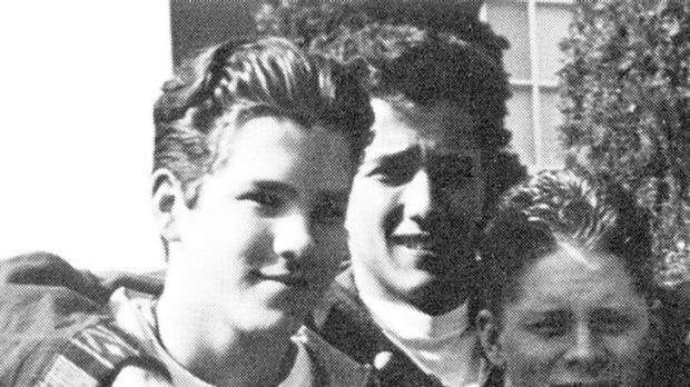 Vancouver boy ... Ryan Reynolds, left, in the 1993 Kitsilano Secondary School yearbook.