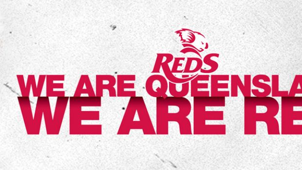 "Queensland Reds ""We Are Red"" campaign logo."