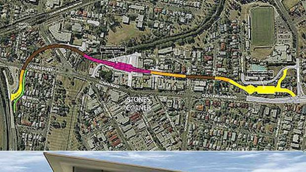 The original plans for the Eastern Busway. The Busway will open on Monday.