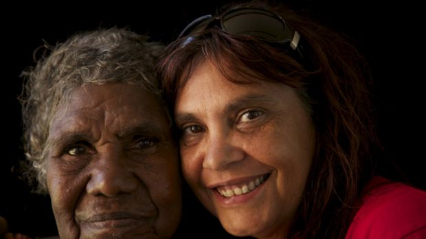Opera, folk and rock singer Shellie Morris (right), with Borroloola song woman Amy Friday, has recorded an album in the ...