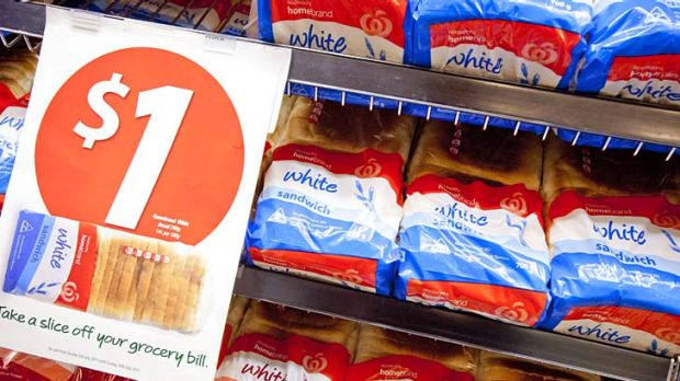 Daily bread: Supermarkets' savage discounting contributed to Goodman Fielder's radically lower full-year profit.