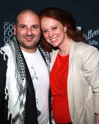 George Calombaris and Natalie Tricarico from The Press Club.