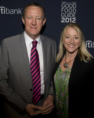 Vanessa Hoath with The Age's Chief Operating Officer David Hoath.