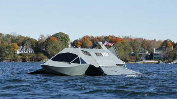 The Ghost photographed on sea trials.