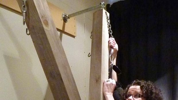 Mary Brennan, a dominatrix who runs a bondage brothel in Wellington, says 'Whenever I hear an English accent I know ...