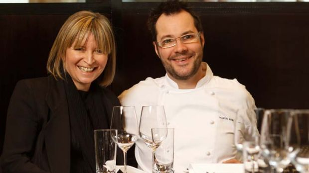 Chef and owners Martin Benn and Vicki Wild, in the Sepia dining room.