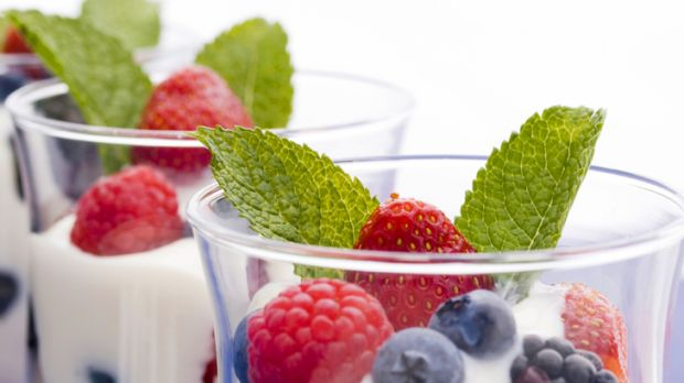 Berry beautiful ... yoghurt with berries is a complexion booster.