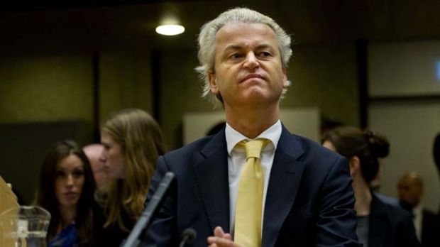 """Undesirable person"" ... Dutch politician Geert Wilders."