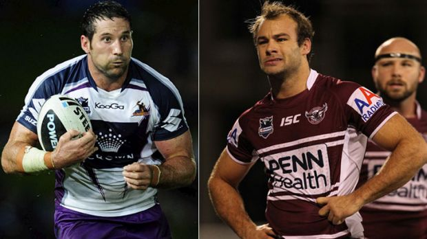 Melbourne prop Bryan Norrie and Sea Eagles fullback Brett Stewart. They will be desperate to avoid any further slip-ups ...