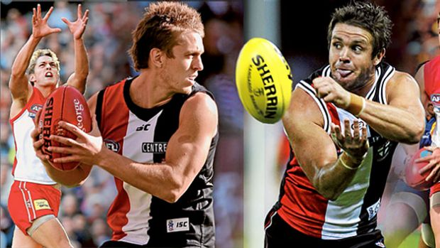 Trading places ... Sean Dempster, left, and Adam Schneider proved ball winners in Sydney colours before they hit their ...
