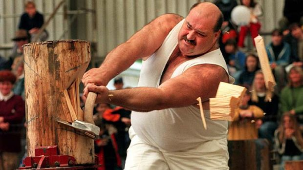 World champion axeman David Foster supports gay marriage.