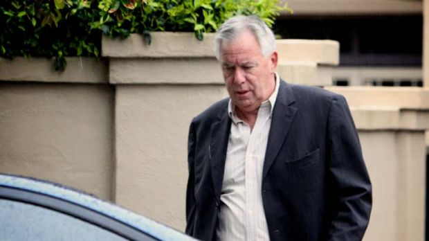 Michael Williamson at his Maroubra home yesterday ... he denies the allegations.