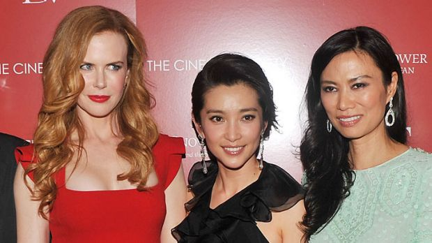 ''We just clicked'' ... Nicole Kidman and Wendi Deng, right, pictured with actress Li Bingbing, centre.