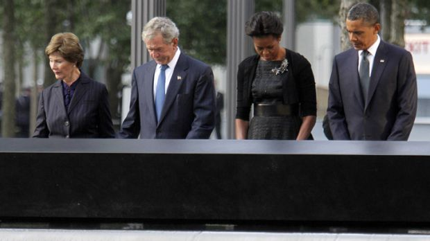Presidents past and present remember the victims of the 9/11 attacks.