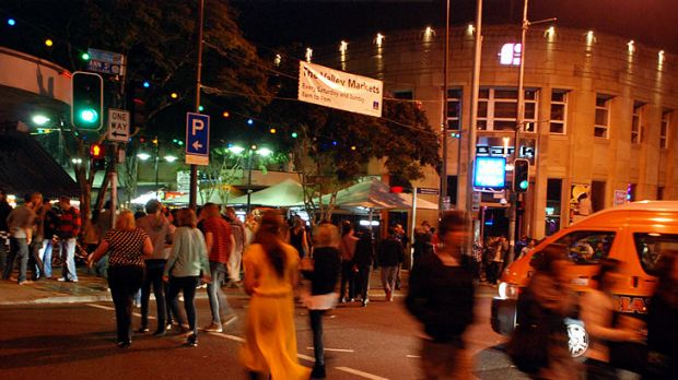 Revellers pack Fortitude Valley.