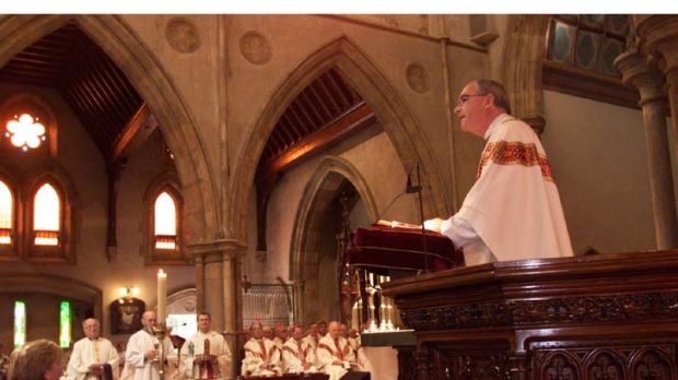 Accused ... Monsignor Ian Dempsey, pictured during a funeral Mass in Adelaide.