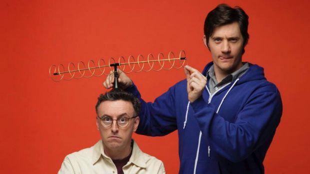 Tony Martin (left) and Ed Kavalee, co-hosts of <i>The Joy of Sets</i>.