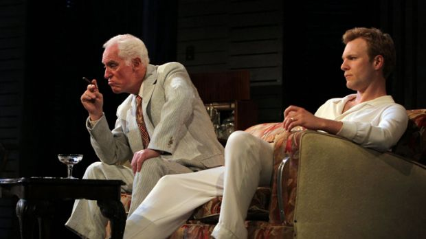 John Stanton as Big Daddy and Tom O'Sullivan as Brick in a scene from 'Cat On a Hot Tin Roof'.