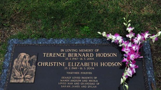 Grave of Terry and Christine Hodson.