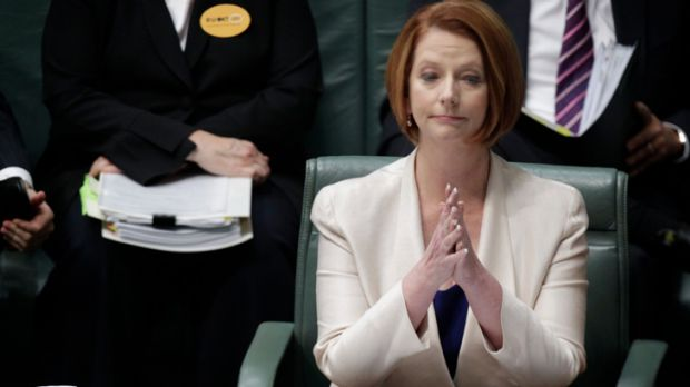 'Difficult days' ... Julia Gillard.