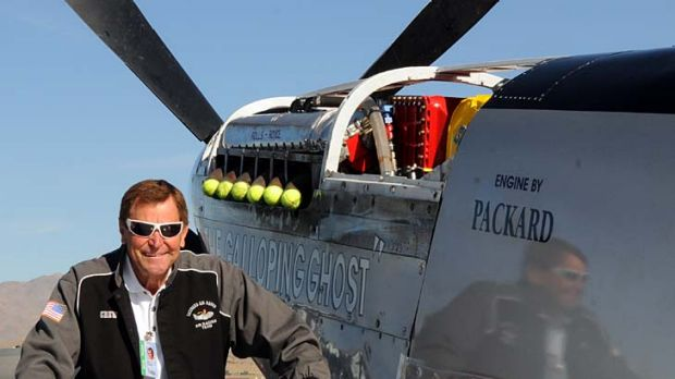 Reno Air Race pilot Jimmy Leeward with his P51 Mustang. Leeward is believed to have died in the air crash.