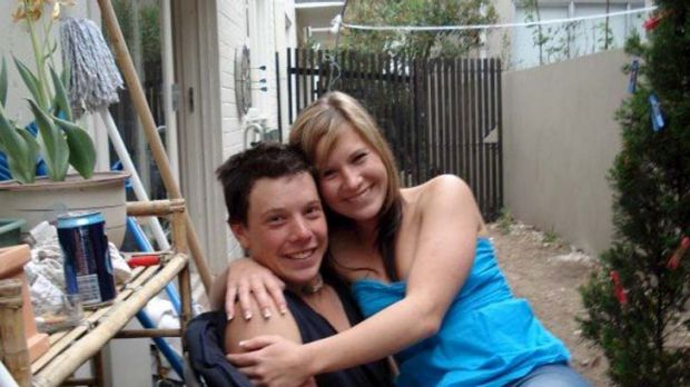 Fighting for life ... Toby Benham with his sister, Melanie.