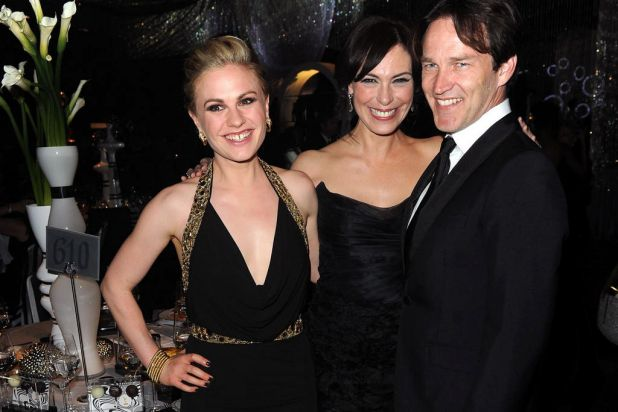 Actress Anna Paquin, actress Michelle Forbes and actor Stephen Moyer attend the Governor's Ball.