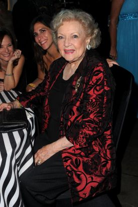 Actress Betty White and guests attend the Governor's Ball.