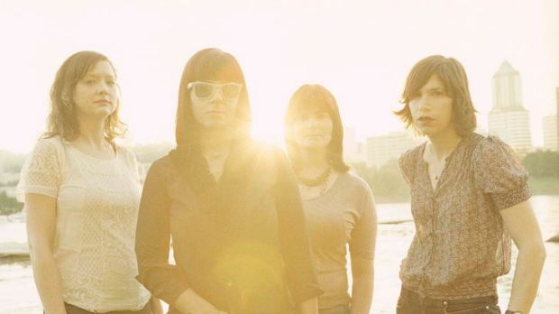 Grrrl power ... (from left) Mary Timony, Janet Weiss, Rebecca Cole and Carrie Brownstein.