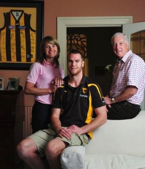 Hosts with the most: Cathy and Jim King gave towering young ruckman Max Bailey a place to stay, but got much more in return.