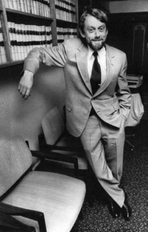 Professor Colin Howard at Parliament House in 1994.