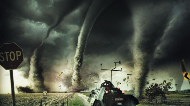 A scene from the IMAX movie Tornado Alley.