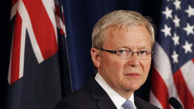 Going back ... Australian Foreign Minister Kevin Rudd is tempted at the prospect of vindication but not sure he wants ...