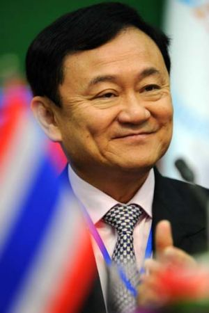 Defiant ... Thaksin Shinawatra in Phnom Penh this week.