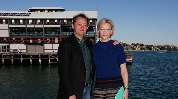 The decision makers ... Cate Blanchett and Andrew Upton launch the 2012 Sydney Theatre Company season yesterday.
