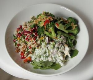 The mixed salad is among the vibrant, fresh offerings at Mister Close.