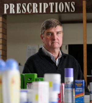 Mortlake pharmacist Stuart Baker resigned from the Pharmacy Guild of Australia after the Blackmores deal was struck.