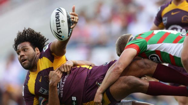 Rewarded ... Sam Thaiday's community work was acknowledged after receiving the Ken Stephen Medal.