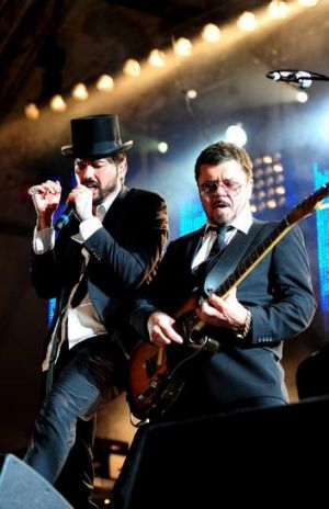 Former INXS lead singer JD Fortune and Tim Farriss.