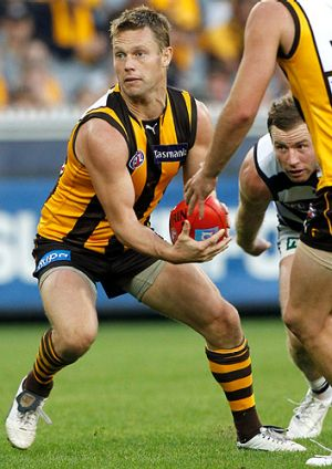 Ineligible: Hawk Sam Mitchell was suspended for one match in round five after he was charged with rough conduct.